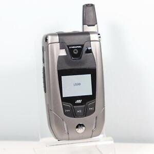 Motorola i880 (Nextel Unlocked) iconnect Silver Flip MP3 Phone - Direct Talk