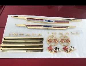 1963 63 Chevy Impala SS Or Non SS 24k Gold Plated Emblem Kit