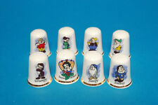 """Snow White and the Severn Dwarfs"" Set of 8 China Thimbles B/124"