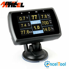 OBD2 Scanner Fuel Consumption Water Temperature Volt Digital Display Speed Gauge