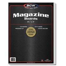 100 BCW MAGAZINE SIZE ACID FREE BACKING BOARDS BACKER BOARDS 8 1/2 X 11
