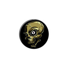 Eight Ball Skull - Billiards Pool - Metal Lapel Hat Round Pin Tie Tack Pinback
