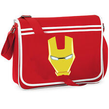 Gli Avengers Iron Man College Borsa a Tracolla Messenger anni Retrò FUMETTI SUPEREROI