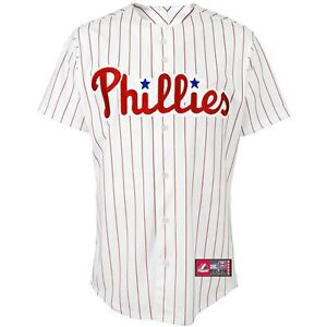 PHILADELPHIA PHILLIES ADULT HOME REPLICA JERSEY NEW & OFFICIALLY LICENSED SMALL