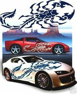 Adesivi auto Tuning Scorpion tribal decalcomanie auto