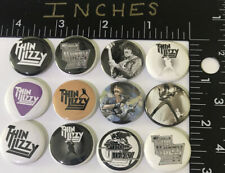 Thin Lizzy 12 Pin Set Pop Pins Button 1 Inch Set Badge Phil Lynott Hard Rock Boy