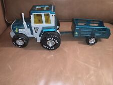 Vintage Nylint Pressed Steel Farm Tractor with Trailer