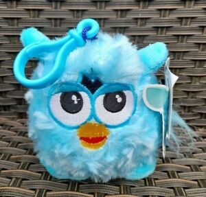 HASBRO FURBY SOFT PLUSH KEYRING / KEYCLIP (TURQUOISE) BRAND NEW WITH TAGS!