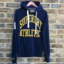 SUPERDRY Hoody Mens Size S Small Navy Blue Drawstring Pullover
