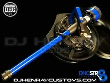 DHC STR8 TONE ARM Assembly Technic 1200 black/blue 24kt gld rcas int ground
