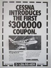 1/1992 PUB CESSNA CARAVAN II AIRCRAFT AVION FLUGZEUG ORIGINAL AD