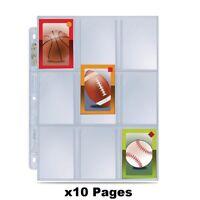x10 Ultra Pro Premium Hologram Platinum Series 9 Pocket Trading Card Pages