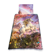 AWESOME UNICORN - DUVET & PILLOW COVERS CASE SET SINGLE BED