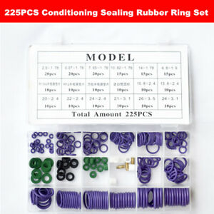 225x Conditioning Sealing Rubber Ring set Car Air Refrigerant Trim Repair w/ Box