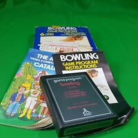 vintage Atari 2600 Bowling Video game Original Box Complete