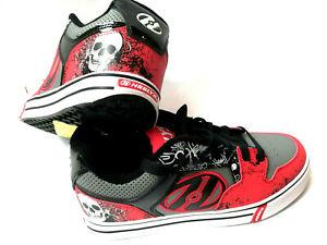 Heelys Motion Plus Red/Black/Grey/Skulls Schuh mit Rollen Heelies Gr. 39