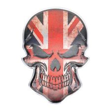 3D Metall Skull TOTENKOPF Sticker Logo Emblem Badge Auto Aufkleber ENGLAND UK GB
