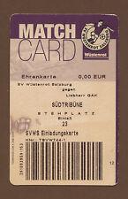 Orig.Ticket    Bundesliga  Österreich 01/02    WÜSTENROT SALZBURG  - GRAZER AK