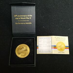 World War II 60 Years Service medal 1945-2005 Service to Australia With Box