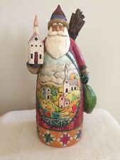 "Jim Shore Enesco Santa "" God's Blessings are Forever"" 13"" 2004"