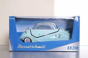 Light Green Messerschmitt Kabinennroller Kit KR 200 1967 Diecast Model Kit 1/18