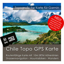 Chile Garmin Topo GPS Carte 8GB micro sd Garmin Navi, PC & MAC