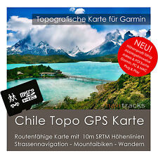 Chile Garmin Topo GPS Karte 8GB microSD Garmin Navi, PC & MAC. Von navitracks