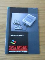 INSTRUCTION BOOKLET / MANUAL FOR THE SUPER NINTENDO ENTERTAINMENT SYSTEM (SNES)