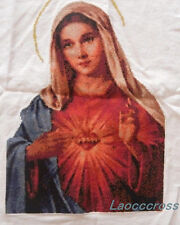 Cross-stitch The Mary heart finished completed great decoration God bless you