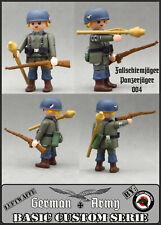 PANZER Jg PARACAIDISTA ALEMAN PLAYMOBIL CUSTOM WW2 GERMAN SOLDIER SOLDADO TANK