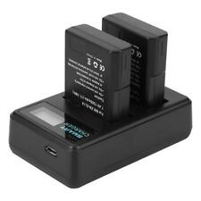 2-Pack 1500mAh EN-EL14 Battery+USB Dual Charger Kit NIKON DF D3200/3300/5100 UK
