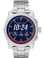 MICHAEL KORS Access Grayson Men's Silver Touchscreen Smart Watch MKT5025 +MK BOX