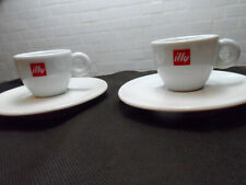 Illy Matteo Thun Pair of Espresso Demitasse Cup & Saucer O Handles