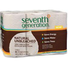Seventh Generation, Inc Bathroom Tissue, 2-Ply, 400 Shts, 12RL/PK, Natural 13735