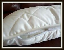 Pack of 2 COTTON Bed Pillows + Zipped cotton cover  NATURAL STANDARD PILLOW
