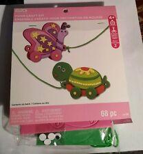 Foam Craft Kit Pull Toys Butterfly Turtle E4