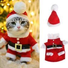 Christmas Pet Coat Santa Costume Dog Clothes Hoodie Jumper Xmas Coat Set