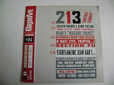 Groove Magazine CD Sampler  #84 - 213, Chicken Boubou, Oxmo Puccino, Diam's...