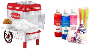 Electric Snow Cone Machine Maker Ice Crusher Shaver Snow Smoothie with Party Kit