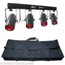 Chauvet 4Play 4x Moonflower Beam FX Light Lighting Bar + 4 Play Bag 2Yr Warranty