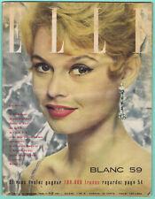 ▬►ELLE 681 de 1959 BRIGITTE BARDOT_ANDRÉ MALRAUX_COCTEAU_PICASSO_MODE FASHION