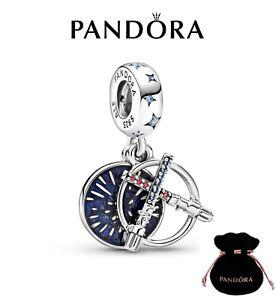 New Genuine Pandora Star Wars Lightsaber Double Dangle Charm S925 ALE 799252C01