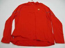 CHAMPION Jacket Men's Size 2XL 1/2 Zip Running Red Track