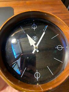 Vintage 1950 George Nelson Howard Miller Chronopak Table Clock Model 4765