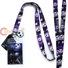 Nightmare Before Christmas Jack Lanyard NBC Key Chain ID Pocket Ticket Holder