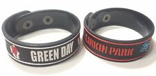 2xNEW GREEN DAY LINKIN PARK RUBBER BRACELET WRISTBAND MAN WOMAN SOUVENIRS RS34