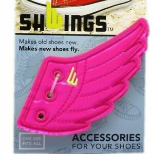SHWINGS - NEON PINK, Shoe Wings - Makes New Shoes Fly, Makes Old Shoes New!