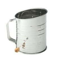 Anderson Baking Crank Flour Sifter 5 Cup Stainless Steel Body 28015