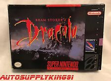 BRAM STOKER'S DRACULA (Super Nintendo SNES, 1992) Game Complete CIB Mint Tested