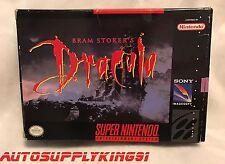 BRAM STOKER'S DRACULA (Super Nintendo SNES, 1992) Game Complete CIB Mint Tested